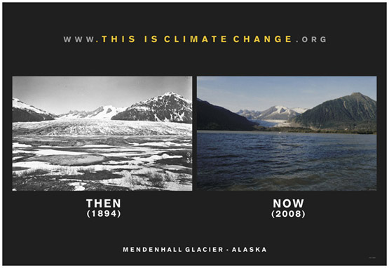 Mendenhall Glacier Then and Now