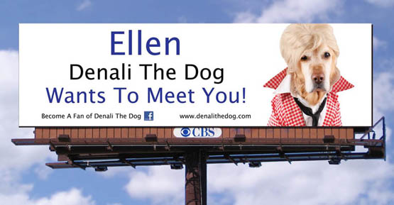 An artist's rendering of the billboard Madalyn Ruggiero attempted to put up for six weeks in West Hollywood.