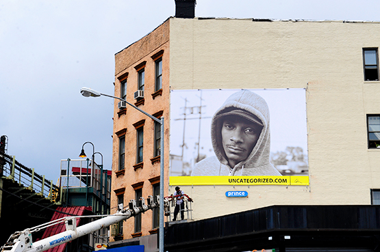 © Chi Modu. An early portrait of rapper Snoop Dogg as it appears on a billboard in Brooklyn's Williamsburg neighborhood.