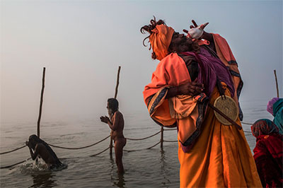 "©Daniel Berehulak from his project ""Maha Kumbh Mela"""