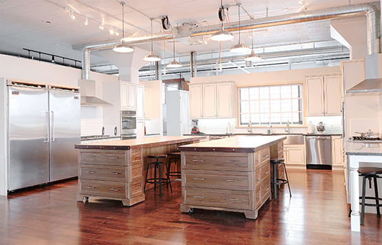 BurkleHagen's dual kitchen. ©Andrew Burkle and David Hagen