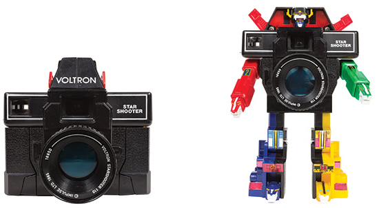 The Voltron Star Shooter Camera, manufactured in 1985, shoots 110 film. Photo by J.K. Putnam.
