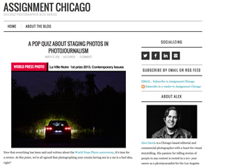 AssignmentChicago.com, Alex Garcia's blog.
