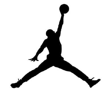 "The ""Jumpman"" logo, used for more than 25 years to promote Nike's Jordan brand."
