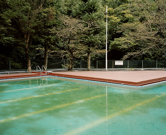 """Hotel Pool, Osaka-fu,"" is part of Shur's ongoing project about Japan. © Emily Shur"