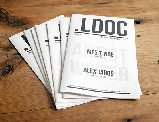 "A prototype of "".LDOC,"" a newsprint publication featuring the work of local Chicago photographers and writers."