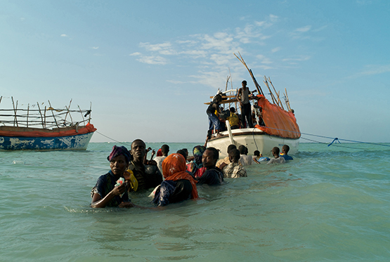 "Alixandra Fazzina was shortlisted for ""A Million Shillings—Escape from Somalia,"" her long-term project documenting migrants and refugees from Somalia and the Arabian Peninsula. © Prix Pictet Ltd 2015"
