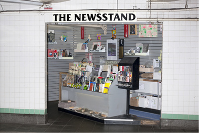"© 2015 Lele Saveri ""The Newsstand. 2013–14."" Mixed medium installation. Courtesy the artist."
