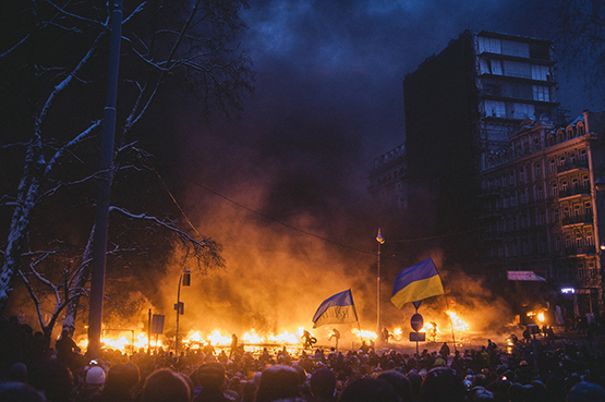 "Maxim Dondyuk was shortlisted for ""Culture of the Confrontation,"" his series about the Euromaidan protests. © Prix Pictet Ltd 2015"