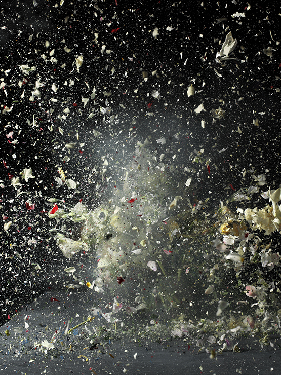 "Ori Gersht was shortlisted for ""Blow Up,"" his series exploding floral still-lifes. © Prix Pictet Ltd 2015"