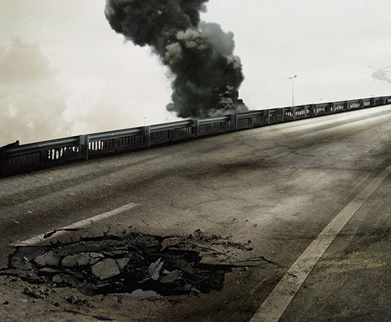 "Sophie Ristelheuber was shortlisted for ""Eleven Blowups,"" her series of images of bomb craters in Iraq."