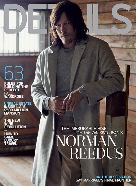 The November 2015 issue of Details featuring actor Norman Reedus, photographed by Mark Seliger.