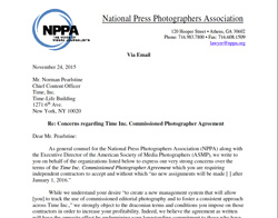 Letter from NPPA, ASMP to Norman Pearlstine, Time Inc.