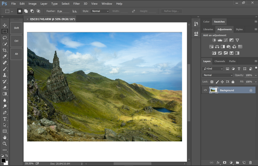 A look at the new touch-friendly interface in Adobe Photoshop CC.