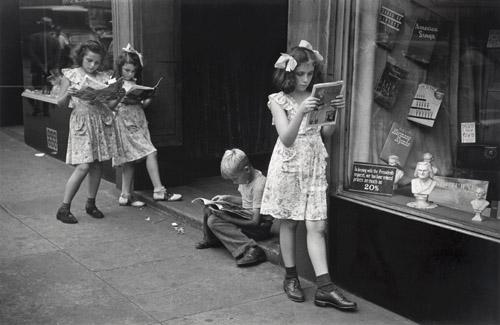 Comic Book Readers, NYC, 1947 | (C) 1981, Ruth Orkin