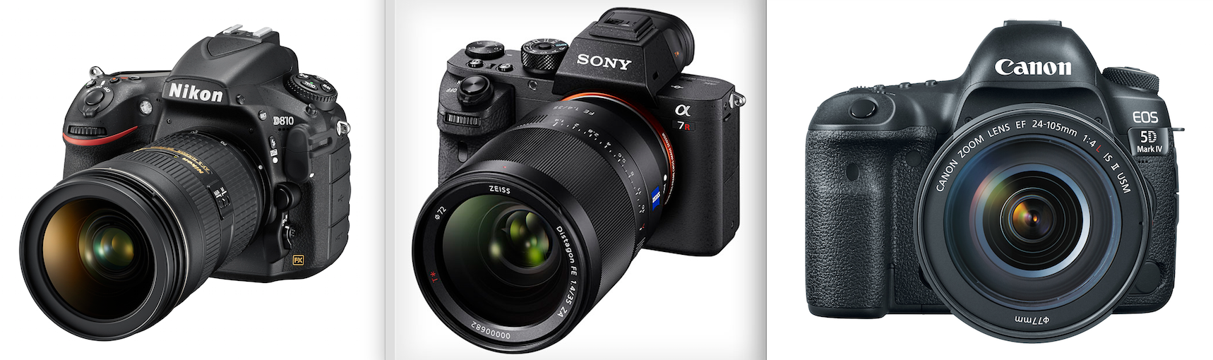 Canon\'s 5D Mark IV vs. Nikon D810 vs. Sony a7 R II | PDNPulse