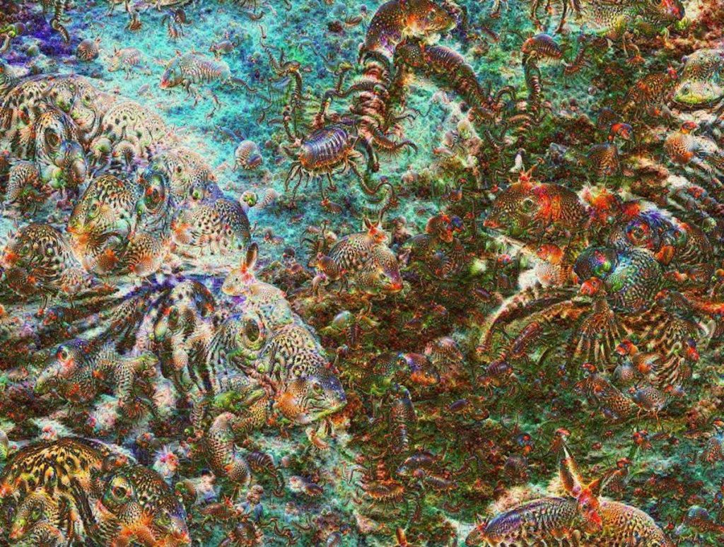 An example of art created by Google's neural network. Image: Google.