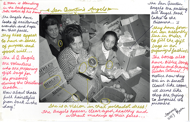 Volunteers Delivering X-Mas Packages to SHU 12.25.75 Mapped by Shakur Ross, 2013. Photo courtesy of John Gutmann Photography Fellowship Trust
