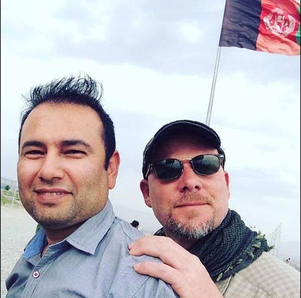Zabihullah Tamanna and David Gilkey. Photo by Monika Evstatieva/NPR