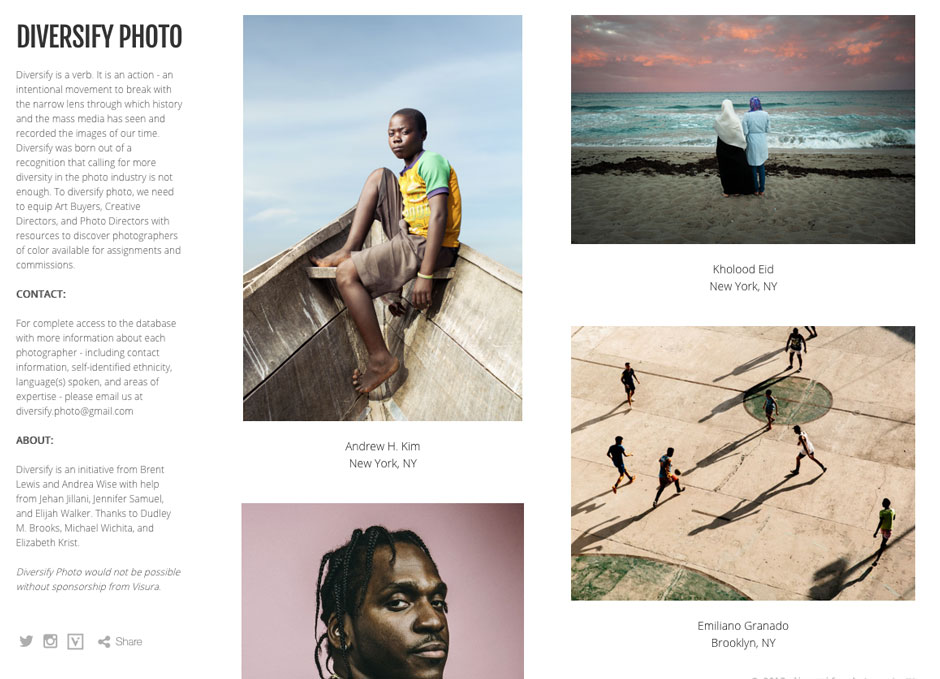 No More Excuses: Diversify Launches Database of Photographers of Color | PDNPulse