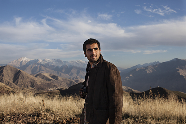 Iraqi Kurdish photographer Kamaran Najm in December 2011. Photo © Sebastian Meyer