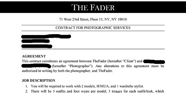 Update on a Photo Scam: Photographer Lucky to Get Money Back After Fake Fader Assignment | PDNPulse