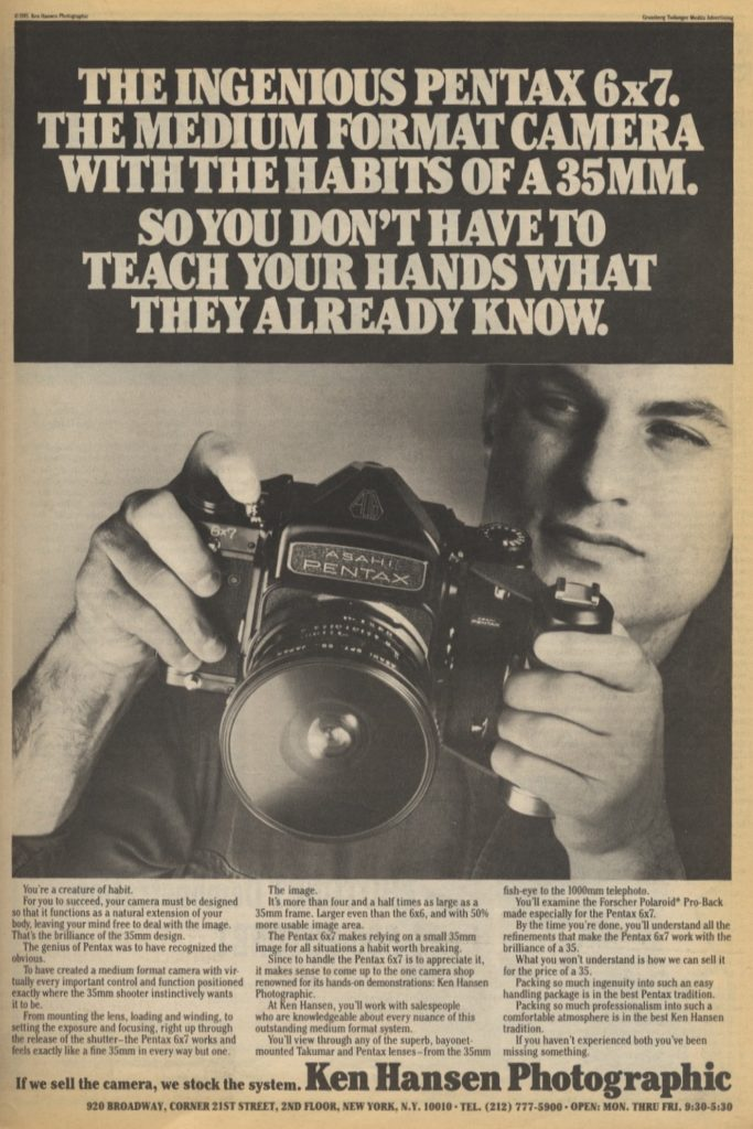 Photography Ads of Yore: Old Hands, New Tricks