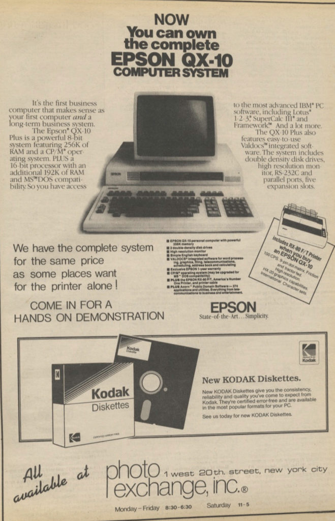 Photography Ads of Yore: Now You Can Own an Epson Computer with Kodak Diskettes!