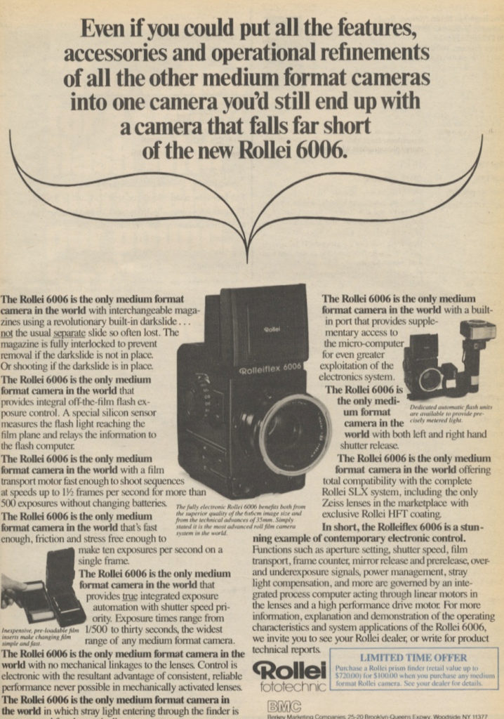 Photography Ads of Yore: The Only Medium Format Camera in the World